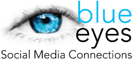 Blue Eyes Social Media Connections